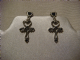 Alchemy Gothic earrings in pewter amourankh ..Heart Ankhs